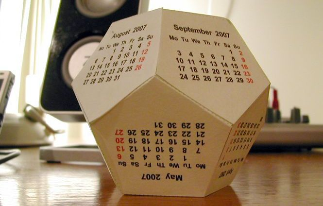 Календарь-додекаэдр на 2016 своими руками