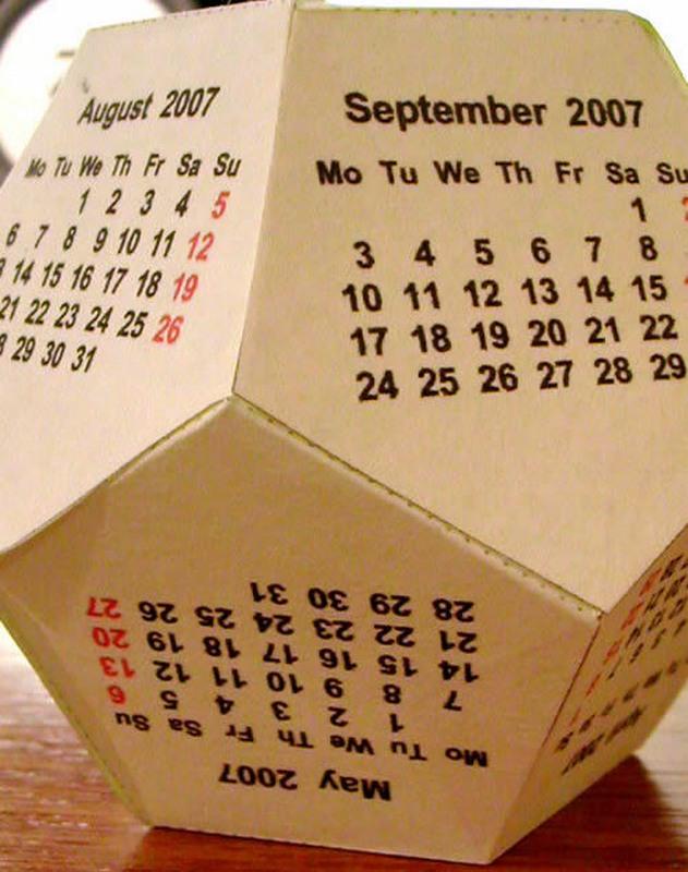 Сделать календарь 2016 года своими руками