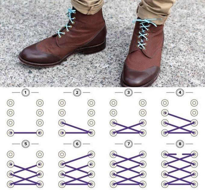 Как красиво и стильно завязать шнурки