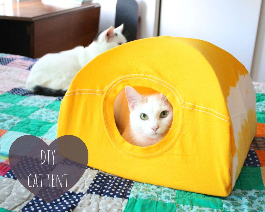 Как сшить дом для кошки своими руками фото