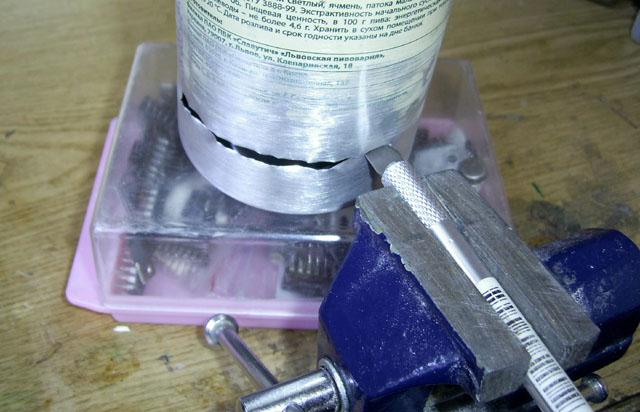 Спиртовая горелка из алюминиевой банки