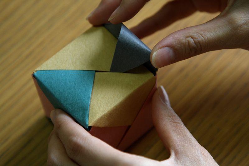 Оригами: Кубик из бумаги своими руками