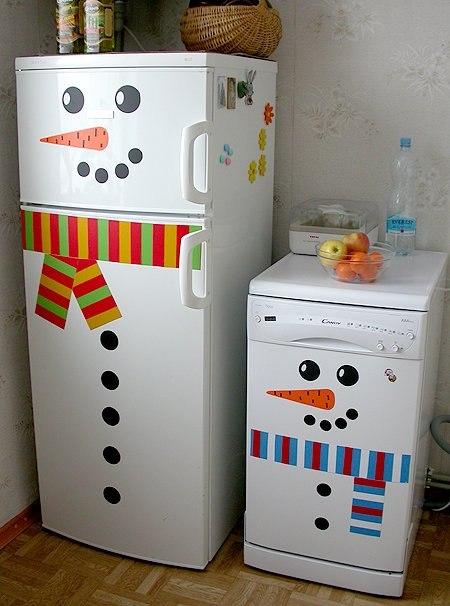 Холодильник-снеговик