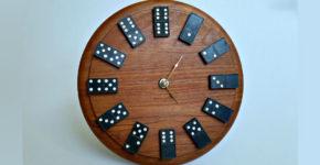 Настенные часы-домино своими руками