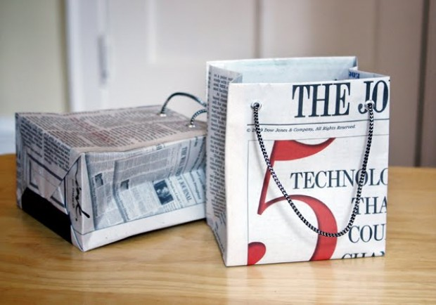Бумажный пакет из газеты своими руками