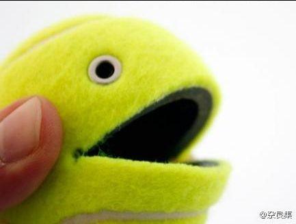 Симпатичный держатель из теннисного мячика