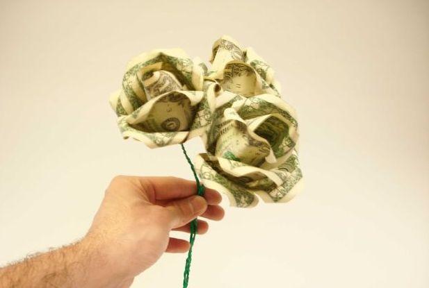 Букет роз из денежных купюр своими руками
