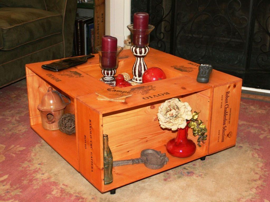 Пуфик-шкаф из ящиков