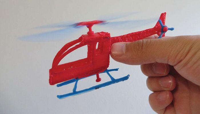 Шаблон для 3D ручки: вертолёт