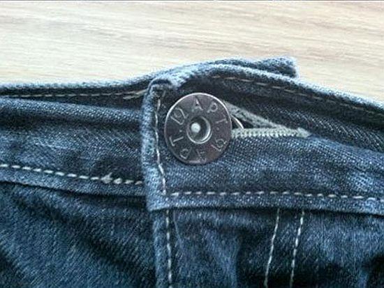 Чтобы молния на джинсах не расстёгивалась