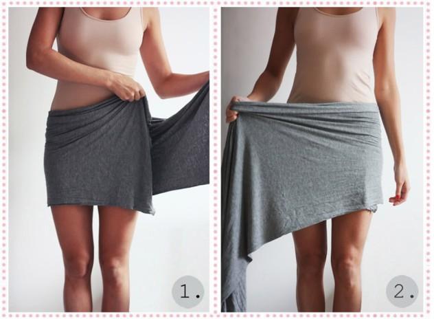 Драпированная юбка из куска ткани своими руками