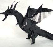 Оригами: Дракон из бумаги