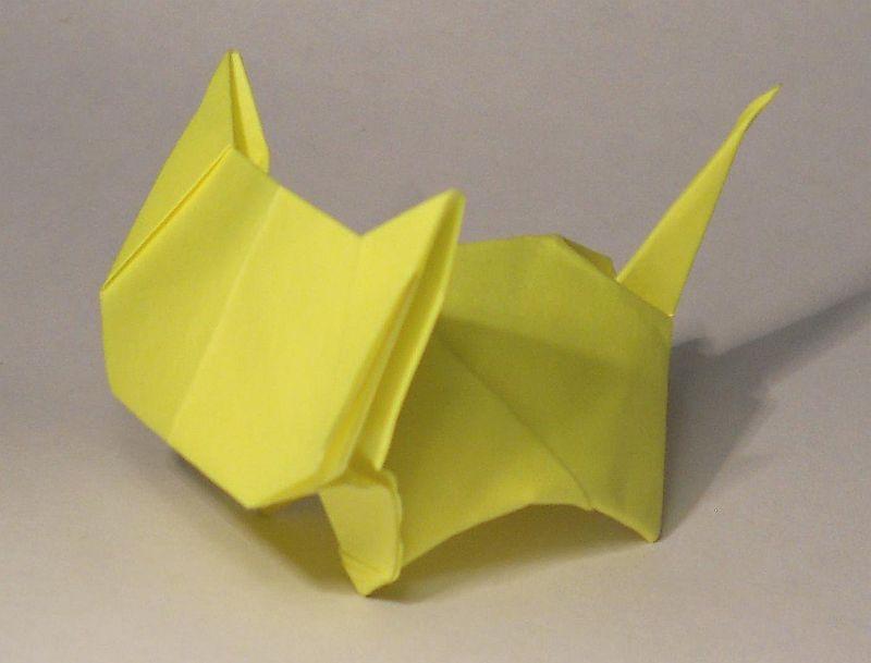 Оригами: Кот из бумаги