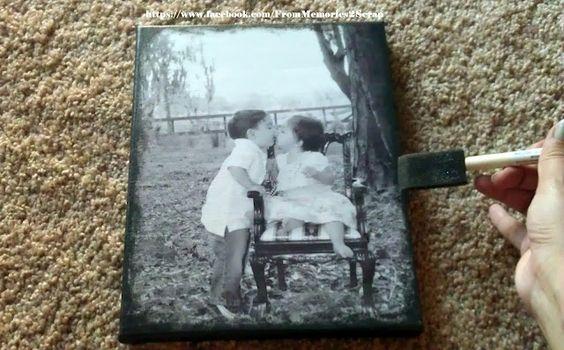 Как перенести фотографию на дерево