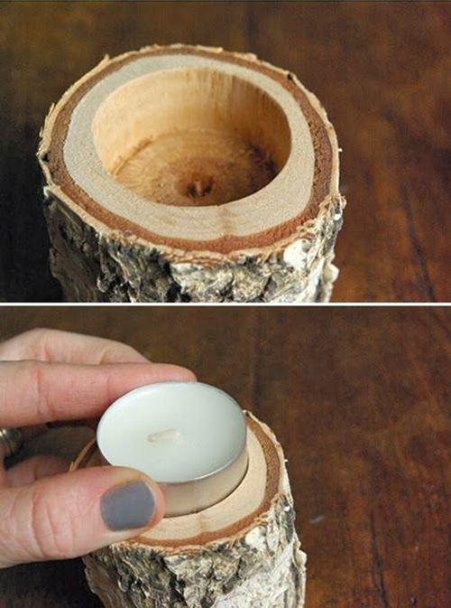 Свеча в дереве своими руками