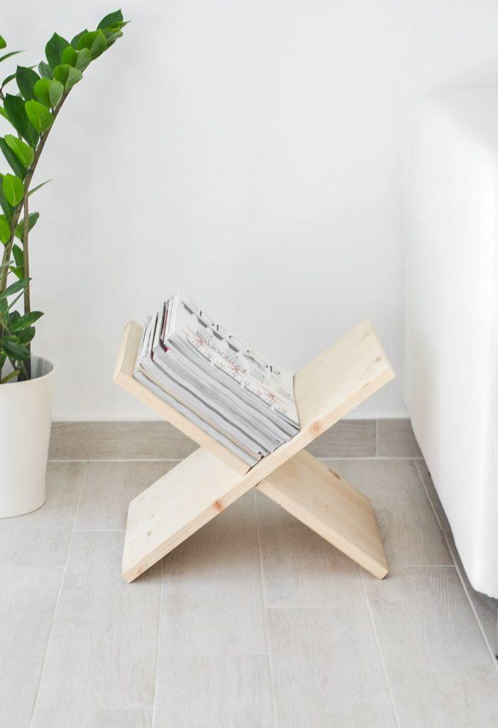 Х-образный журнальный столик своими руками