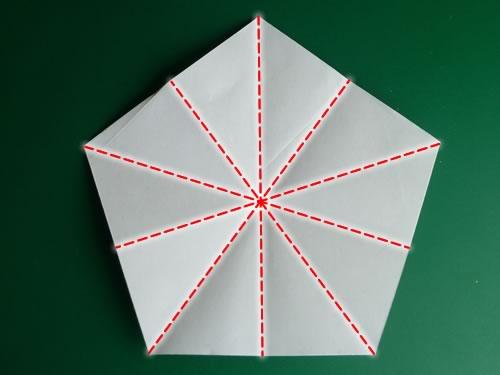 Звезда из бумаги. Оригами