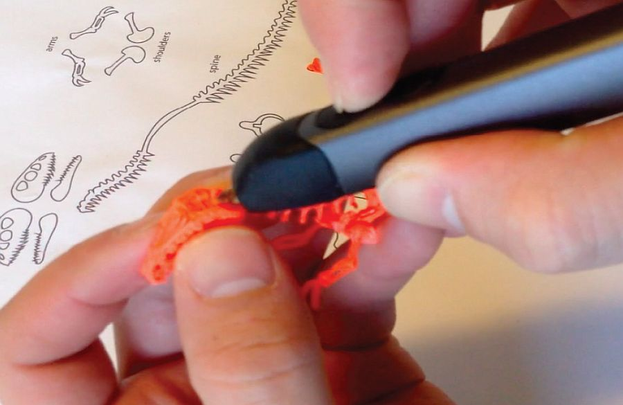 Трафарет для 3D ручки – скелет динозавра
