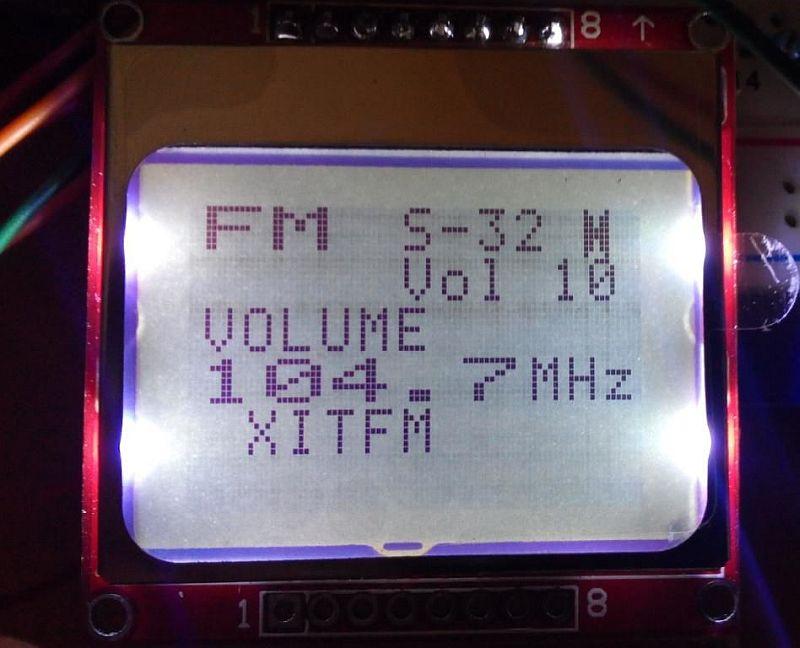 FM радио на модуле RDA5708 и Ардуино
