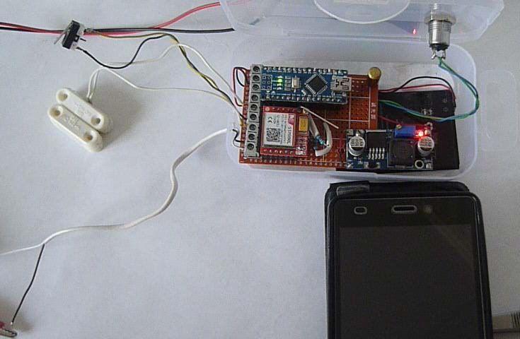 GSM сигнализация на модуле SIM800L и Arduino