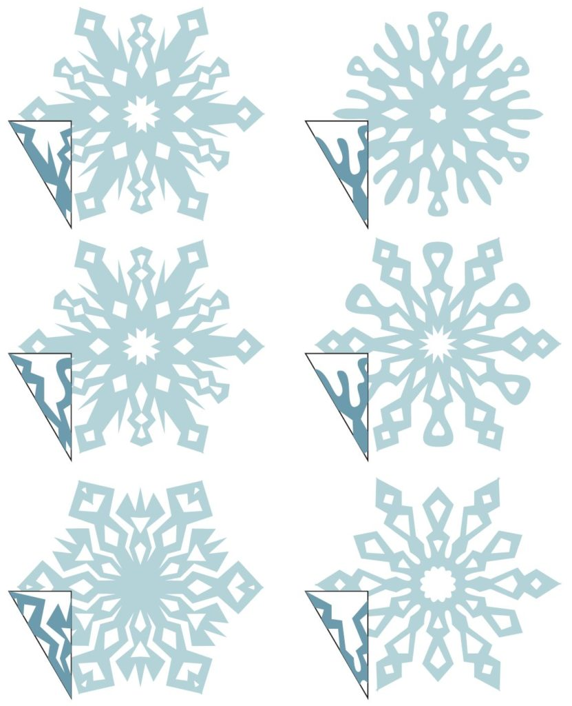 Как сделать снежинку из бумаги, шаблоны снежинок