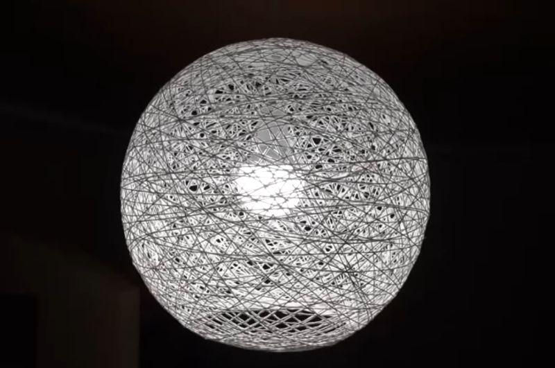 Абажур из ниток для лампы