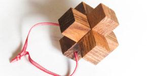 Деревянная головоломка из 3-х частей своими руками