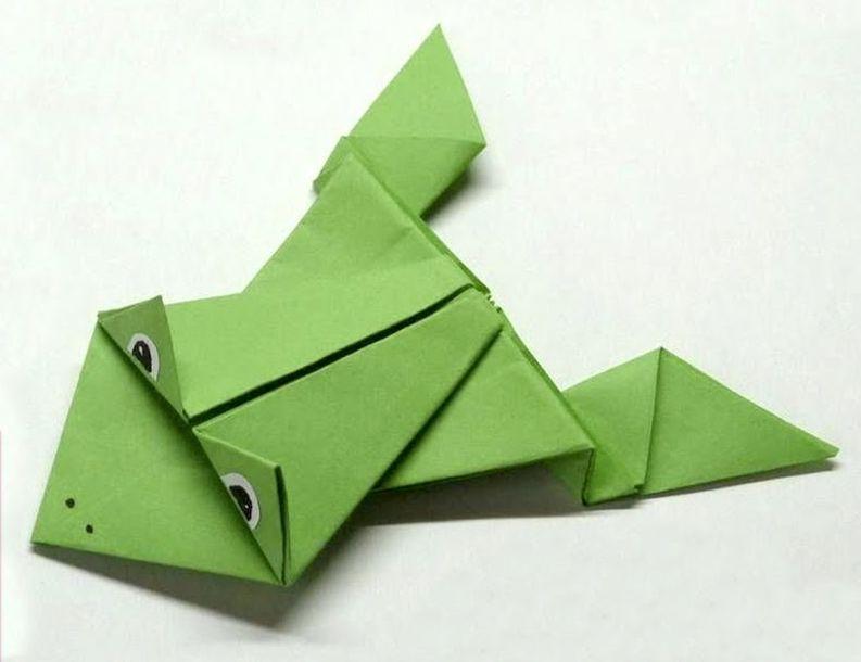 Оригами: Жабки из бумаги