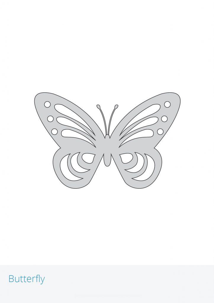 Трафарет для 3D ручки – бабочка