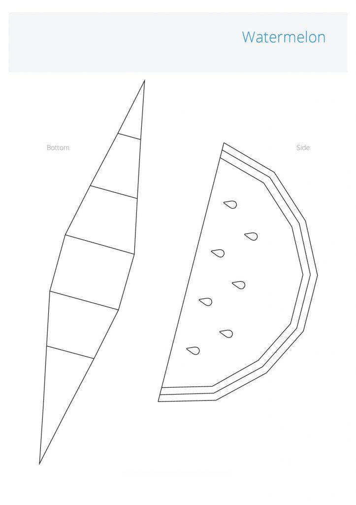 Шаблон для 3D ручки - объёмная долька арбуза