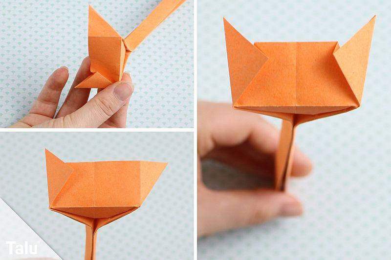 Оригами кошка из бумаги