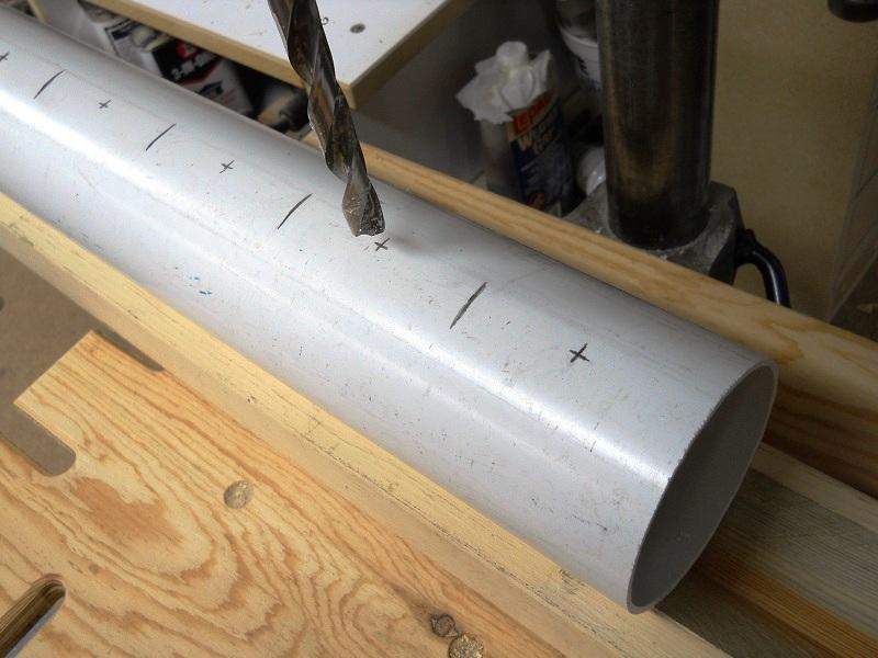 Пружинный зажим-струбцина из ПВХ трубы своими руками