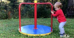 Детская карусель из ступицы автомобиля своими руками