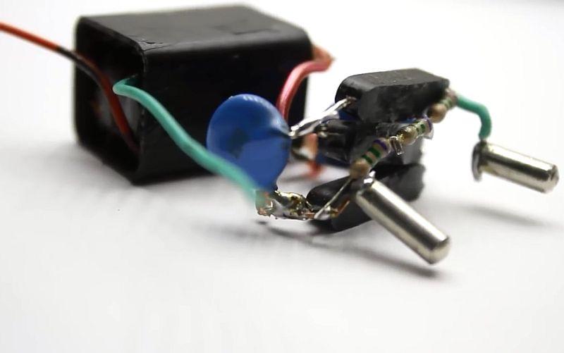 Маленький электрошокер своими руками