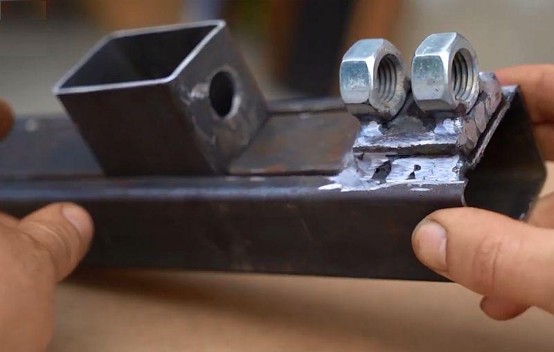 Мини-тиски из профильной трубы