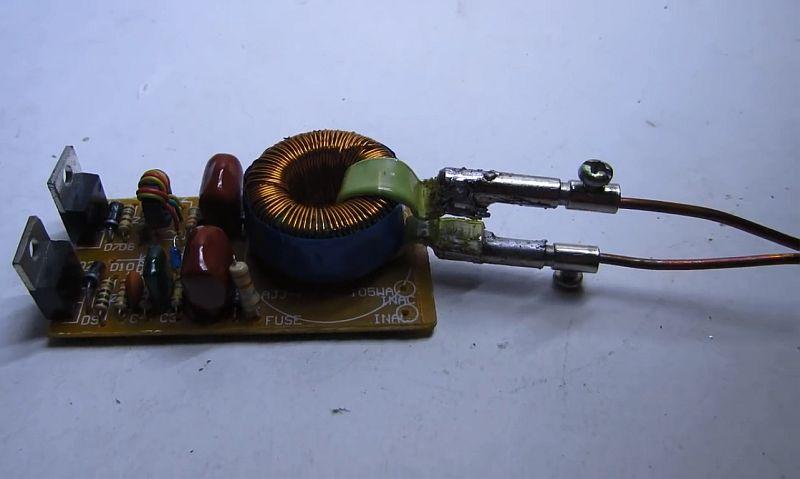 Паяльник с моментальным нагревом из электронного трансформатора