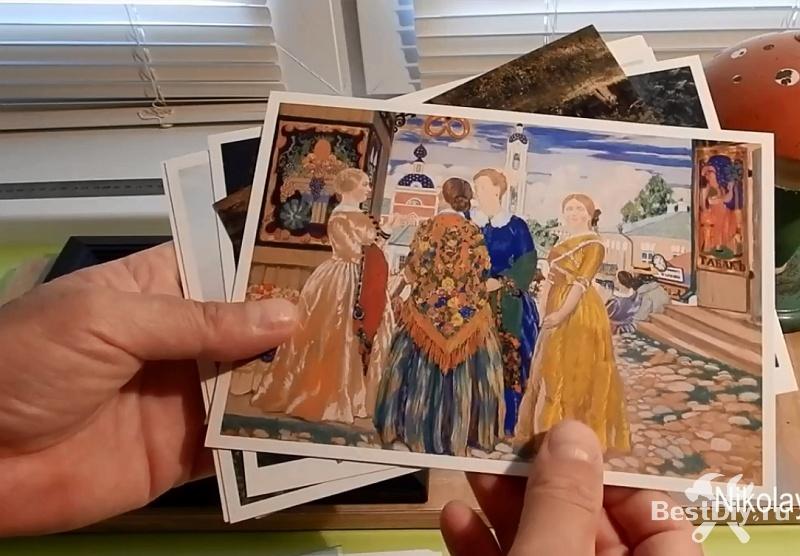 Делаем красивую картину из открытки