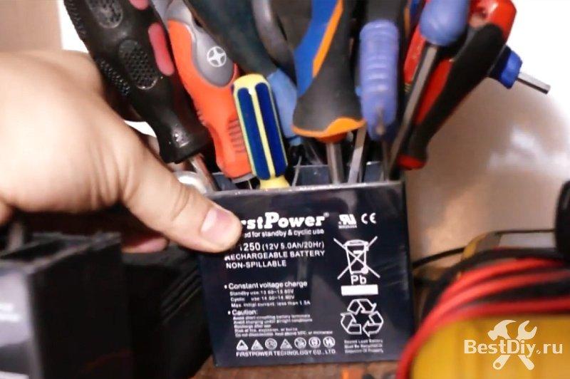 Органайзер для инструмента из AGM аккумулятора