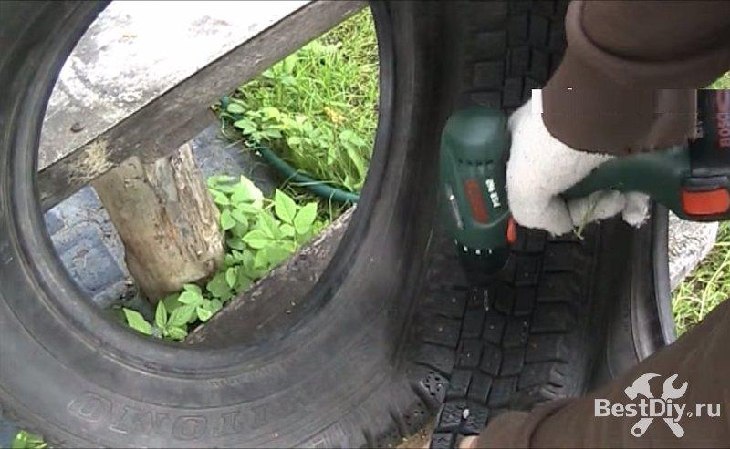 Лебедь из покрышки автомобиля своими руками