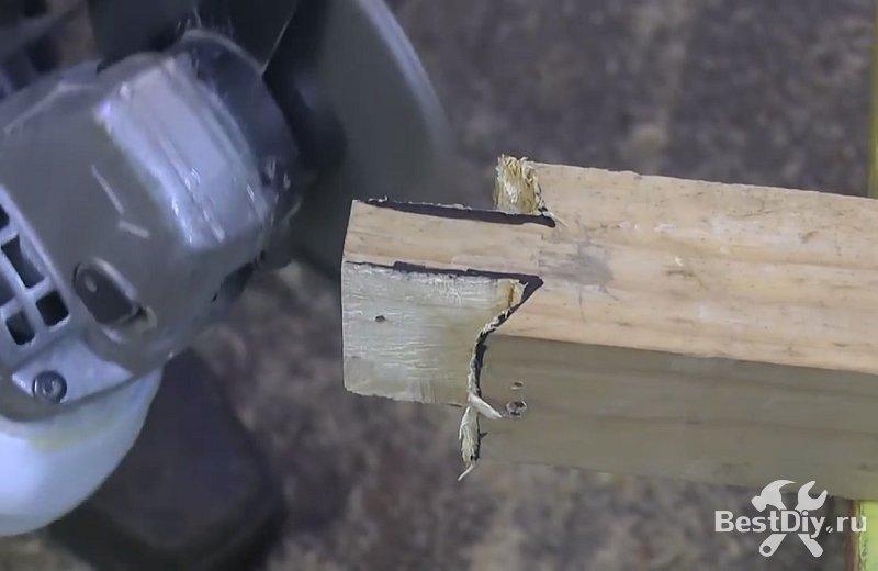 Диск для болгарки для обработки дерева