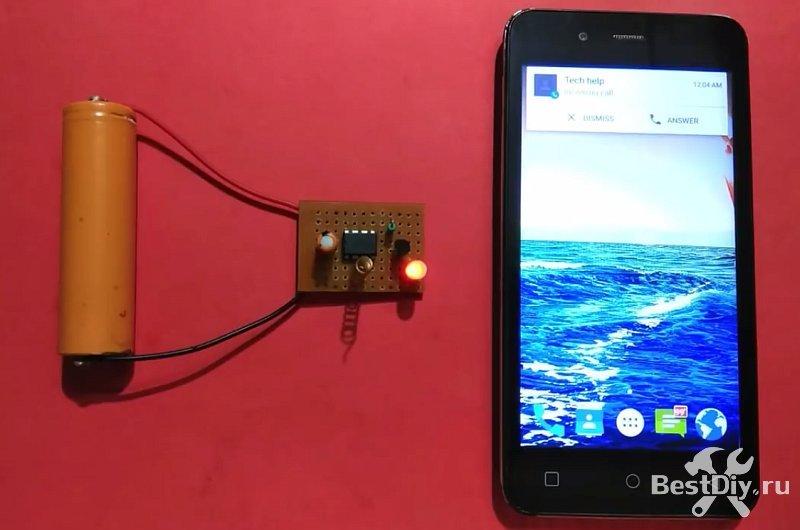 Простой детектор ВЧ поля, индикатор работы телефона