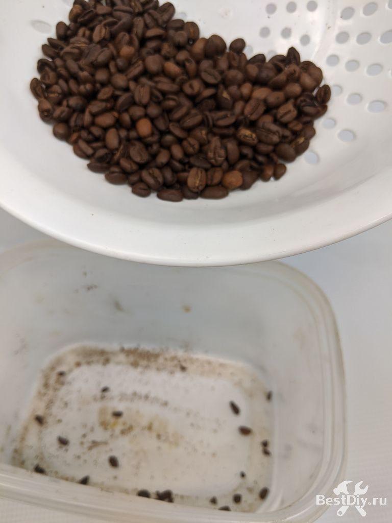 Оригинальная ручка из зёрен кофе своими руками
