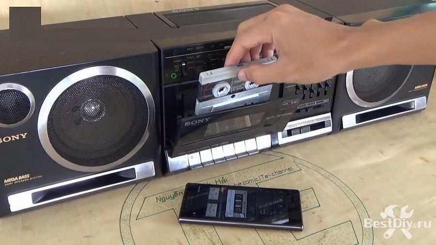 Bluetooth кассета адаптер для магнитолы своими руками