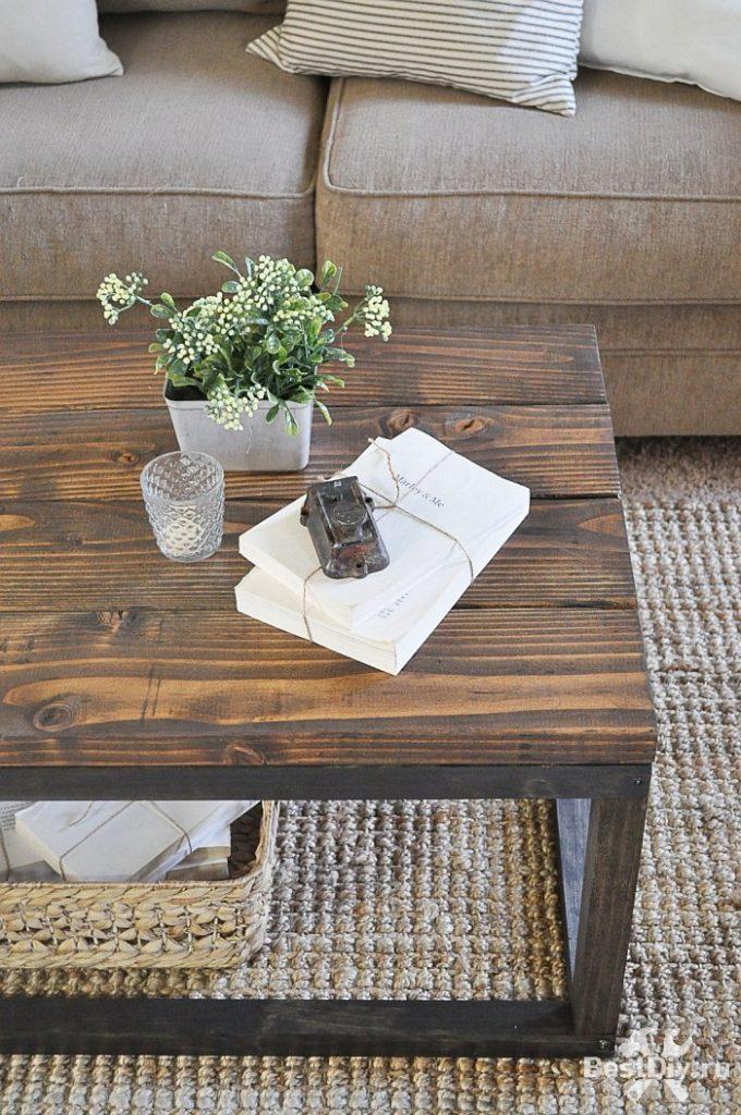 Кофейный столик в индустриальном стиле своими руками