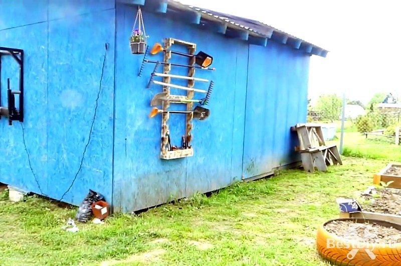 Щит-органайзер для садового инвентаря