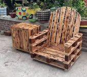 Кресло из поддонов для дачи своими руками