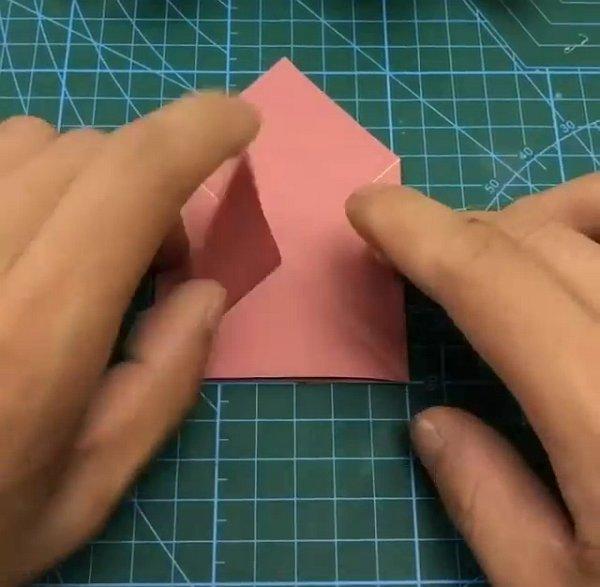 Оригами: двигающиеся губы, говорящий рот из бумаги