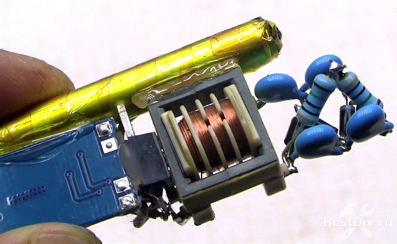 Электрошокер из деталей старого принтера