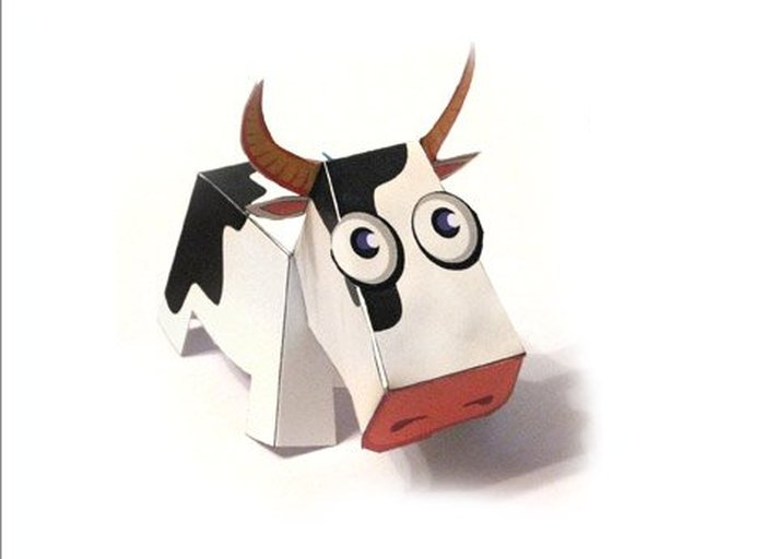 Корова или бык из бумаги своими руками