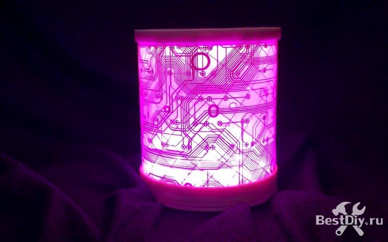 Лампа-ночник из клавиатуры (DIY keyboard lamp) для гика своими руками